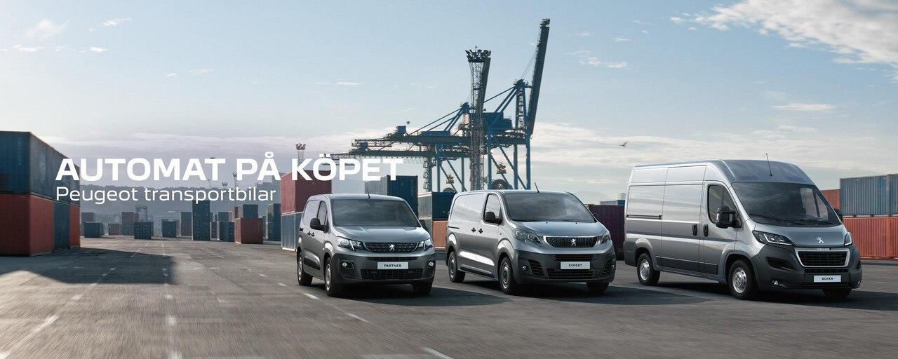 Peugeot transportbilar Automat på Köpet