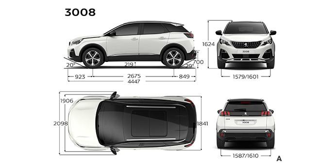 Tekniska specifikationer | Peugeot 3008 SUV