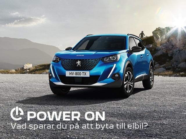Peugeot Beräkna din elbilskostnad